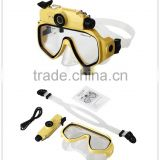 hot sale professional underwater diving equipment with HD video +camera goggle waterproof camera