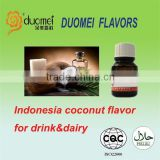 New Arrival Indonesia coconut drink&dairy flavours/flavors/essences, young coconut water flavors