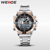 WEIDE Roles Watches Men Gold WH1104-7C Custom Stainless Steel Watch Best Watches 2015