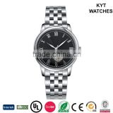 KYT factory direct waterproof stainless steel hand timepiece mechanical boy / men fashion watch