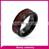 new styles fashion jewelry tungsten firefighter wedding rings