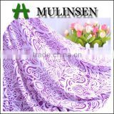 Mulinsen knitting spandex poly dress border fabric