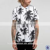 sports jersey new model polo t-shirt printing style palm tree printing t-shirt with polo collar