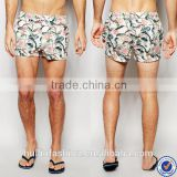 mens sportswear made in china three pockets mens swim shorts tropical floral print mens swim trunks                                                                         Quality Choice
