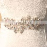 High Quality Rhinestone sash leaf sash