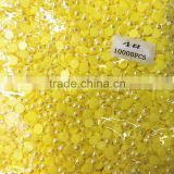 AAA quality citrine AB plastic beads loose imitation ABS half round pearls for phone decoration
