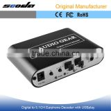 DTS/AC3 Digital Audio Decoder 5.1 Audio Gear for PS3,STB, DVD Player, HD Player, Xbox360