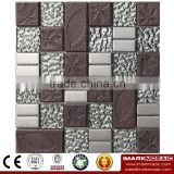 IMARK Electroplated Color Glass Mix Ceramic Mosaic Tiles (IXGC8-086) for back splash mosaic wall art