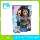 2016 New !Eco-friendly Vinyl 12 Inch Elsa and Anna princess and Kristoff prince set Barbie Doll