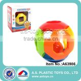 Most popular plastic educational baby round rattle ball