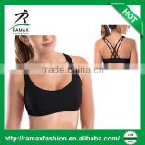 Ramax Custom Women Light Support Cross Back Straps Removable Cups Hot Yoga Gym Sports Bra