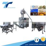 Detergent powder packing machine with aufer conveyor/auger dosing / forming bag filling sealing machine