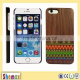 Made in china natural wooden bamboo case for iphone 6 6s for iphone 6 6s hard phone cover