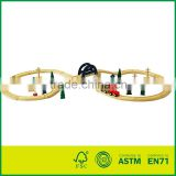 37pcs Wooden Train Track