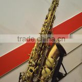 Antique red plated alto saxophone