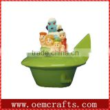 Jetsons ship figurine green ceramic mini cookie jars