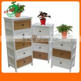 Cube Small Side Storage Wooden Multi Color Drawers Cabinets