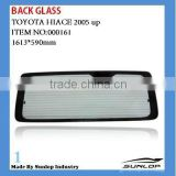 Hiace back glass for toyota hiace body parts Back Glass without hole for hiace quantum rear glass #000161