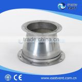 stainless steel reducer with flange of ventilation fittings/HVAC ventilation system/duct pipe fitting for ventilation system