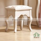 Factory Directly Sale Stool HA-B# Antique Wooden Dressing Table With Mirror And Stool Fancy Stool For Dressing Table