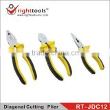 RIGHTTOOLS RT-JDC12 High quality Polished finish side cutting pliers with TPR handle,wire cutting plier