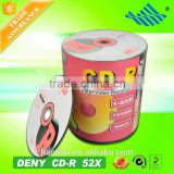 hot sale 100pcs shrink wrap packing blank cdr 52x