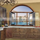 Alibaba wholesale product solid wood and aluminium composited windows and doors