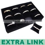Wholesale Kraft Paper Cardboard With Black Velvet Cushion Silver Bracelet Jewelry Gift Box