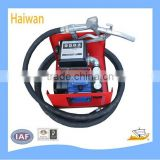 Electric fuel transfer pump unit with FM-120 meter in liters, manual nozzle and 4m hose