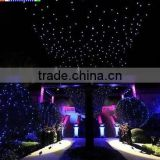 black background rgb led sky star cloth for wedding decor