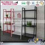 Corner shelving unit steel display racks for living room