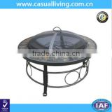 Round Black Indoor and Outdoor Stainless Steel Fire Pit