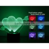 3D illusion LOVE Gift LED Modern night light 7 Color touch table Lamp for Christmas new year Valentine gift