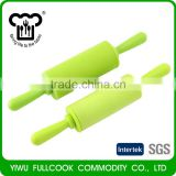 Hot selling colorful eco friendly non stick silicone rolling pin