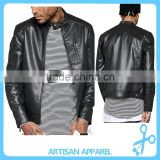 Men's Street Wear Western Style Cool Faux Leather Biker PU Bomber Jacket