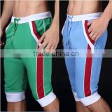Summer leisure sports shorts men trousers elastic brand men shorts mens fashion fitness outer wear trousers at home