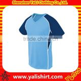 Wholesale best quality cheap v-neck short sleeve color block dry fit jersey design volleyball uniforms women