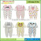 OEM factory or stocked designs hot sale organic cotton baby clothes baby romper/baby toddler clothing