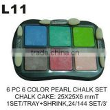 L11 6 PC 6 COLOR CHALK SET