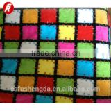 Custom changshu tetile knitted baby fabric blanket for printed