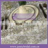 TL001G Gold ,Violet and Silver sequin fabric metallic sequin wedding table linens