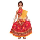 Indian Kids Handmade Red Lehenga Choli chaniya choli For Girls Ethnic dress, Traditional dress Girl Dresses Duppta set Ghagra