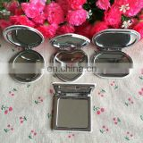 Mini Beauty pocket mirror portable double sides matel frame cosmetic makeup pocket mirror
