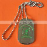 custom engraved school logo souvenir metal necklace charm