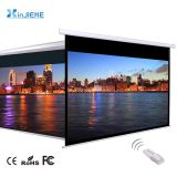 Office Room Presentation Remote Control Electric / Motorized Projector Projection Screen