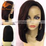 Sliky Straight Front Lace Wig Bob Style Human Hair Lace Frontal Wigs Virgin Malaysian Hair High Quality Material For Wig Making