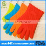 Best Heat Resistant Silicone Gloves + Premium Nonstick Silicone Mat Set, BBQ Kitchen Cooking Baking Smoking Antislip Pair Oven M