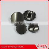 special pearl gunmetal metal shank suit button