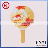 Hign quality cheap Flower OEM promotion gift Hot sale Wooden Beach Racket /beach paddle rackets with beach ball wholesale