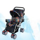2 point safety belt baby stroller with reversible handle